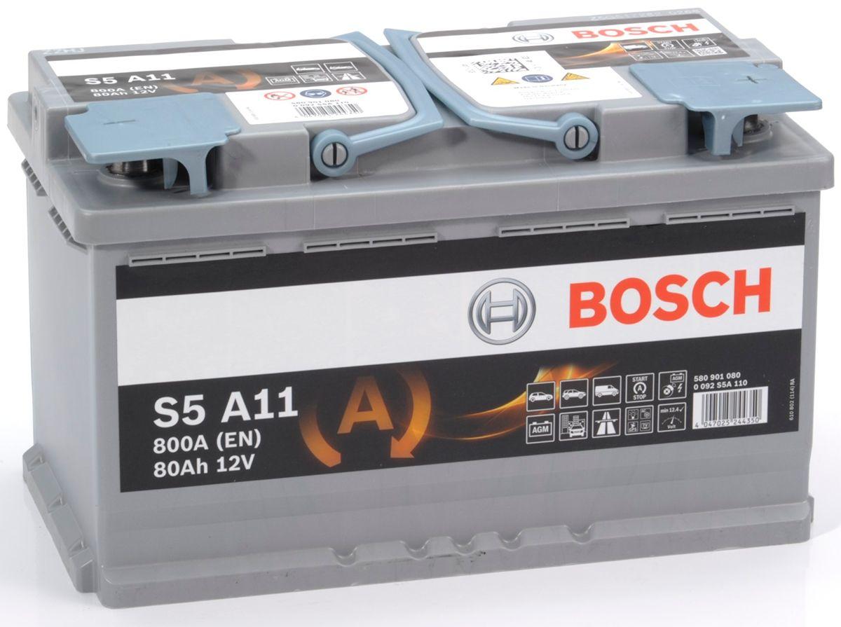 S5 A11 Bosch Agm Car Battery 12v 80ah Type 115 S5a11