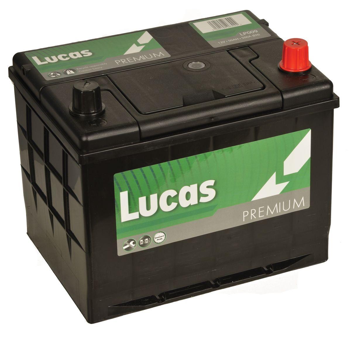 LP009 Lucas Premium Batterie De Voiture 12V 50Ah
