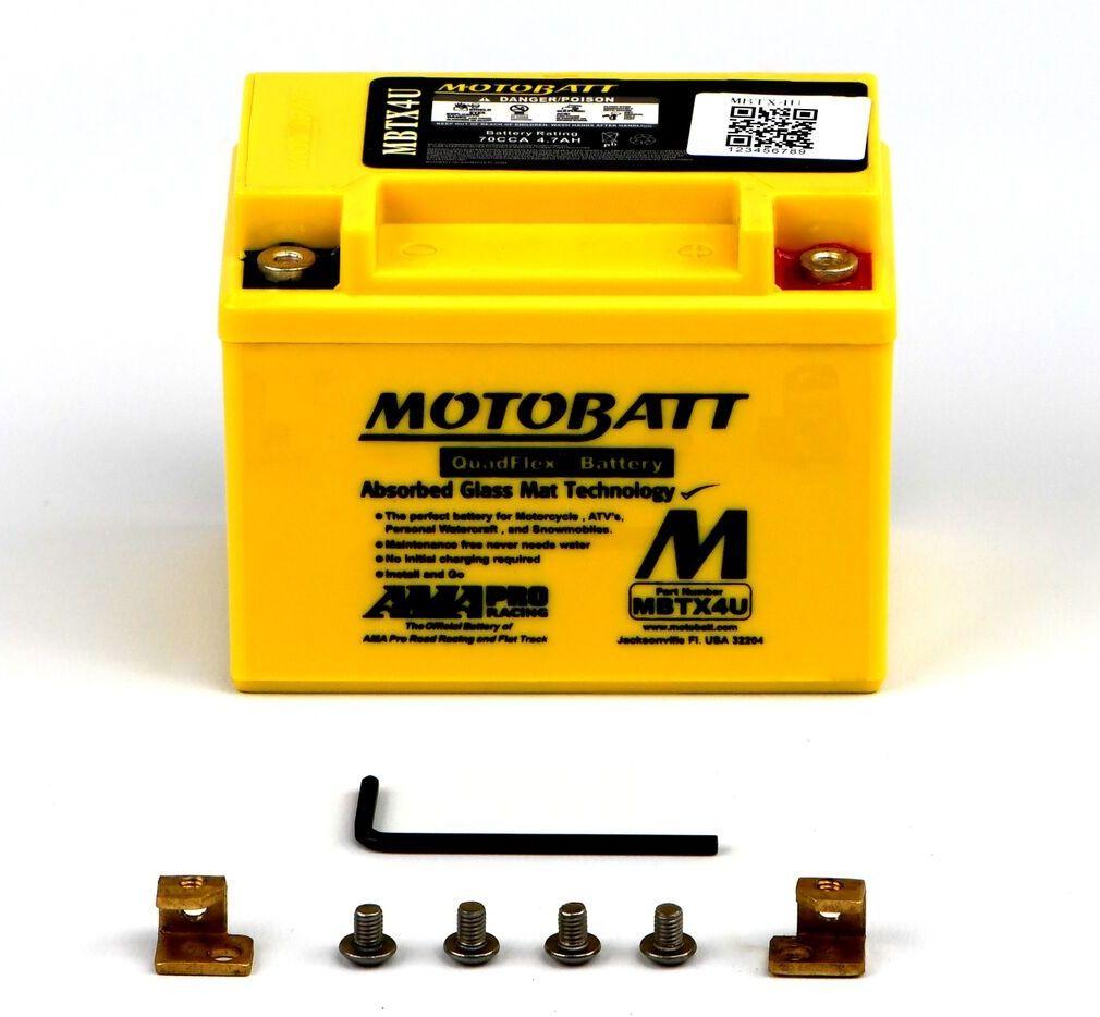 Mbtx4u Motobatt Quadflex Agm Bike Battery 12v 4ah