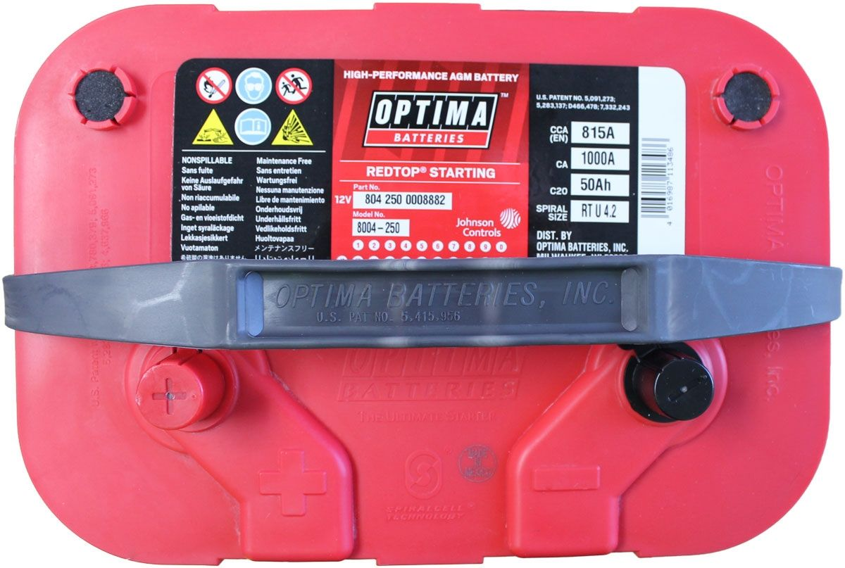 Optima Red Top Battery Rtu 4 2 8004 250 8004 703 Bci