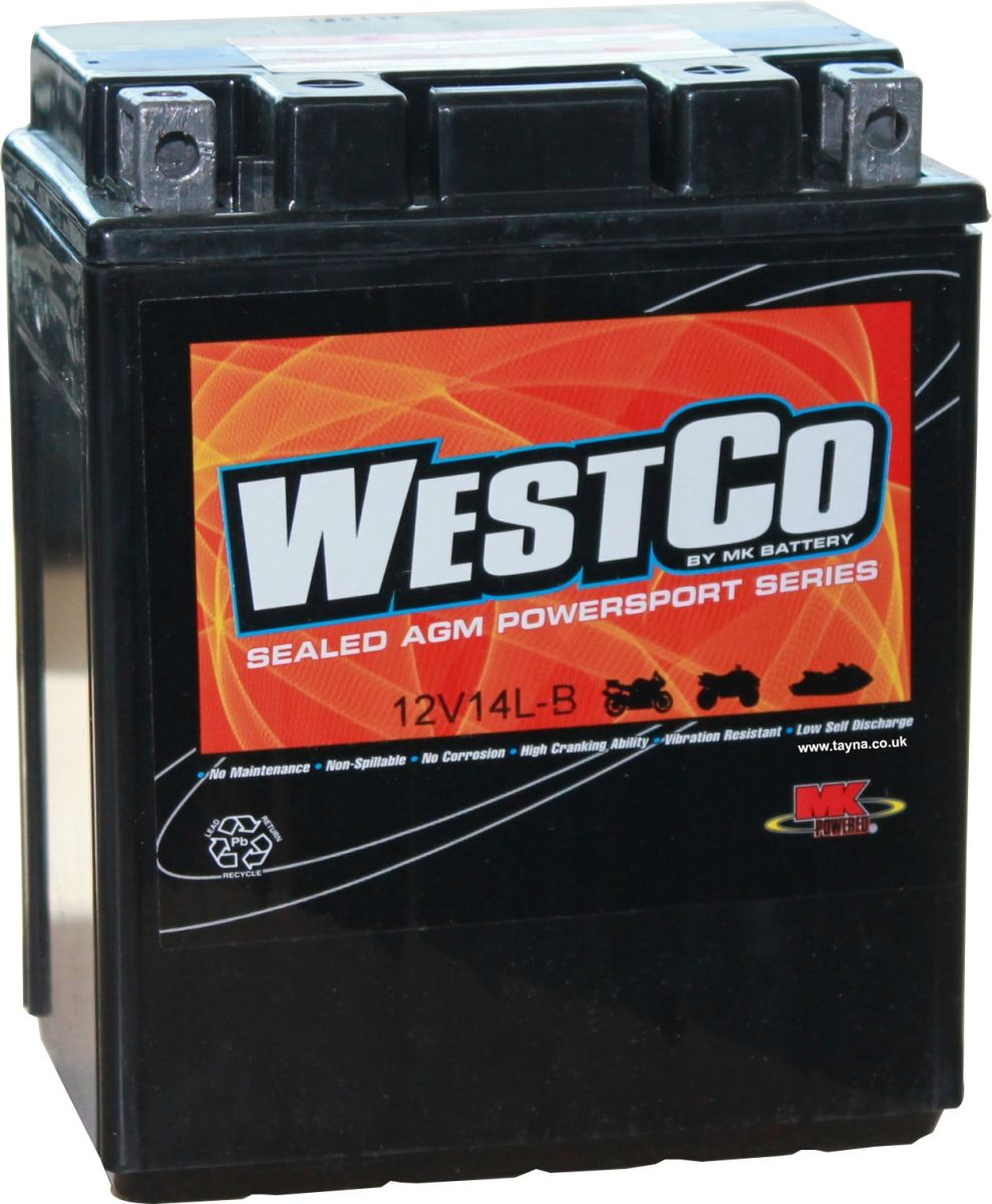 Yb14l A2 12v14l B 12n14 3a Westco Motorcycle Battery 12v 12ah