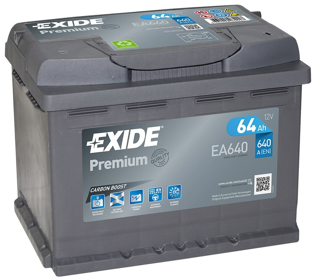 Exide Car Battery >> Ea640 Exide Premium Car Battery 027te