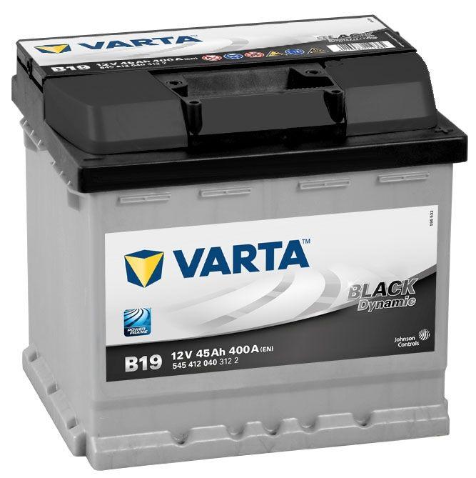 Type 012 Varta Car Battery 12v 45ah Short Code B19 Varta Din 545 412 040