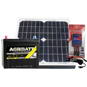 Electric Fence Solar Battery Kit ELB60 12V 51Ah c100