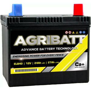 AgriBatt ELB40 Heavy Duty Electric Fence Battery 12V 27Ah c100