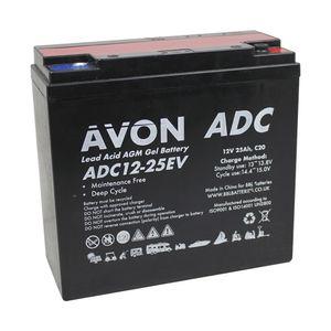ADC12-25EV AVON Deep Cycle AGM GEL Battery 25Ah