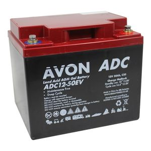 ADC12-50EV AVON Deep Cycle AGM GEL Battery 50Ah