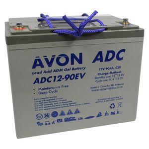 ADC12-90EV AVON Deep Cycle AGM GEL Battery 90Ah