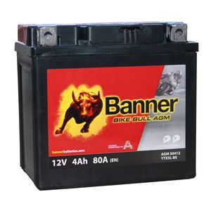 YTX5L-BS Compatible Banner Bike Bull AGM Battery (50412)