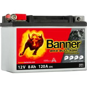 50901 Banner Bike Bull AGM PROfessional Battery
