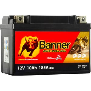 GT12A-4 Banner Bike Bull GEL Battery (51021)