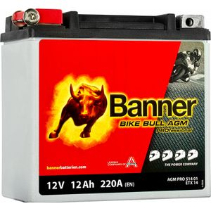 51401 Banner Bike Bull AGM PROfessional Battery