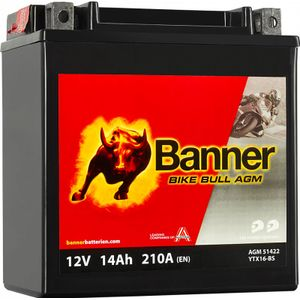 YTX16-BS Compatible Banner Bike Bull AGM Batterie Moto (51422)