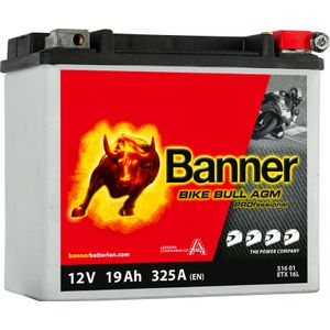 YTX16L-BS Compatible Banner Bike Bull AGM PROfessional Batterie Moto (51601)