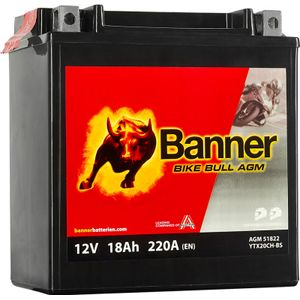 YTX20CH-BS Compatible Banner Bike Bull AGM Battery (51822)