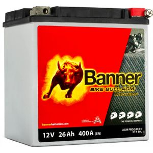 YTX30L-BS Compatible Banner Bike Bull AGM PROfessional Batterie Moto (53001)