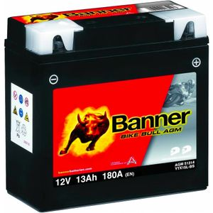 YTX15L-BS Compatible Banner Bike Bull AGM Battery (51314)