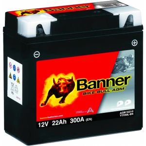 YTX50L-BS Compatible Banner Bike Bull AGM Batterie Moto (52214)