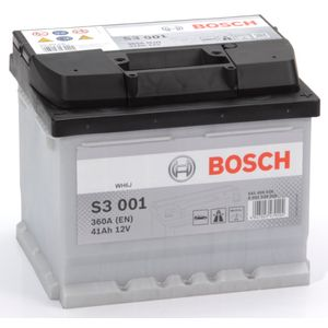 S3 001 Bosch Car Battery 12V 41Ah Type 063 S3001