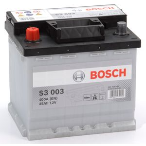 S3 003 Bosch Car Battery 12V 45Ah Type 077 S3003