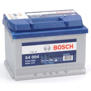 S4 004 Bosch Car Battery 12V 60Ah Type 075 S4004
