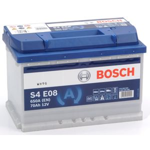 S4 E08 Bosch Car Battery 12V 70Ah Type 096 EFB S4E08