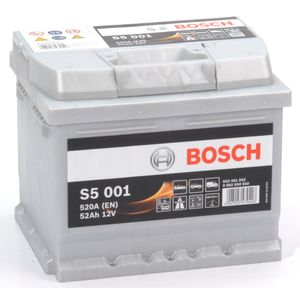 S5 001 Bosch Car Battery 12V 52Ah Type 063 S5001