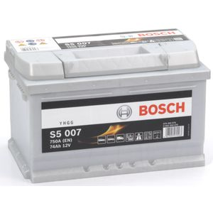S5 007 Bosch Car Battery 12V 74Ah Type 100 S5007