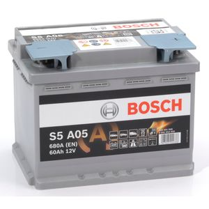 S5 A05 Bosch AGM Car Battery 12V 60Ah Type 027 S5A05