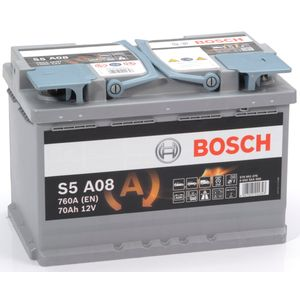 S5 A08 Bosch AGM Car Battery 12V 70Ah Type 096 S5A08
