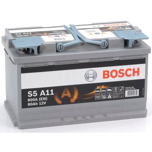 S5 A11 Bosch AGM Car Battery 12V 80Ah Type 115 S5A11