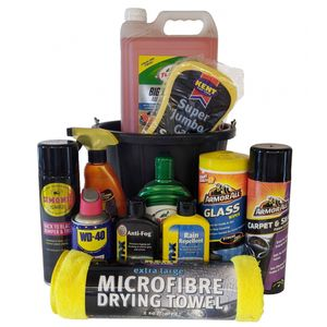 Essential Car Care & Cleaning Kit