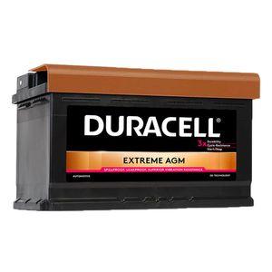 DE80 Duracell Extreme AGM Car Battery 12V 80Ah