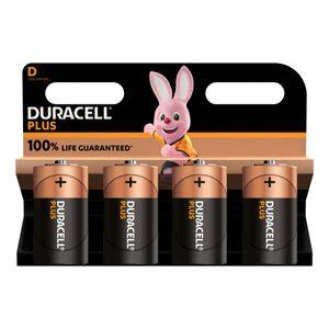 4x Duracell Plus D Batteries MN1300B4