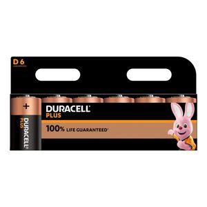 6x Duracell Plus D Batteries MN1300B6