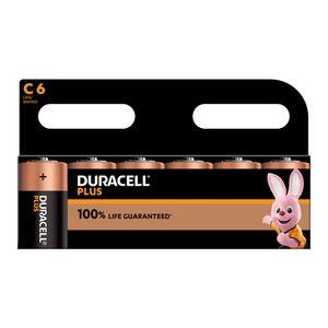 6x Duracell Plus C Batteries MN1400B6