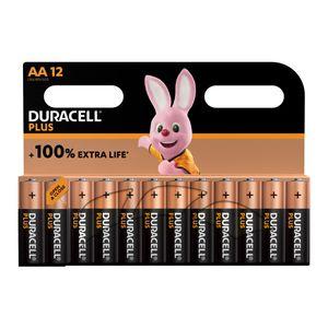 12x Duracell Plus AA Batteries MN1500B12