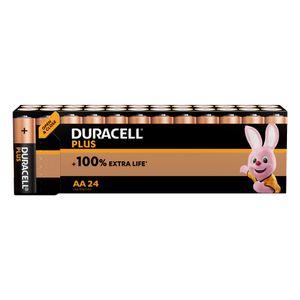 24x Duracell Plus AA Batteries MN1500B24