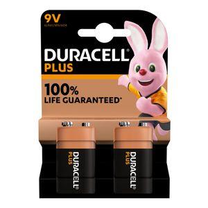 2x Duracell Plus 9V Batteries MN1604B2