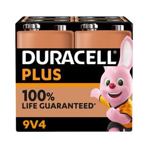 4x Duracell Plus 9V Batteries MN1604B4