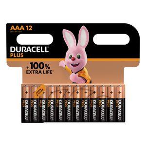 12x Duracell Plus AAA Batteries MN2400B12