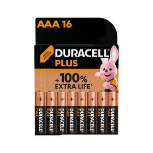16x Duracell Plus AAA Batteries MN2400B16