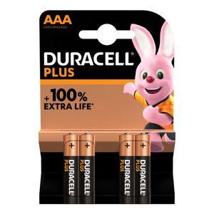 4x Duracell Plus AAA Batteries MN2400B4