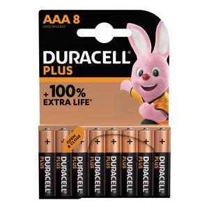 8x Duracell Plus AAA Batteries MN2400B8