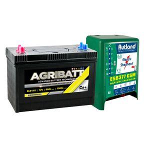 Rutland ESB377 GSM Energiser and Agribatt 100Ah Battery Kit