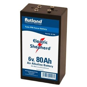 Rutland 6V 80Ah Air Alkaline Twin PP8 Electric Fence Battery