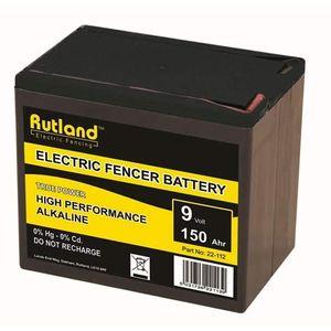 Rutland 9V 150Ah Alkaline Electric Fence Battery - Large
