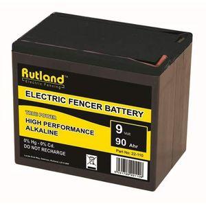 Rutland 9V 90Ah Alkaline Electric Fence Battery