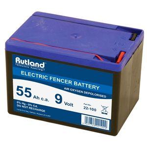 Rutland 9V 55Ah Air Oxygen Electric Fence Battery