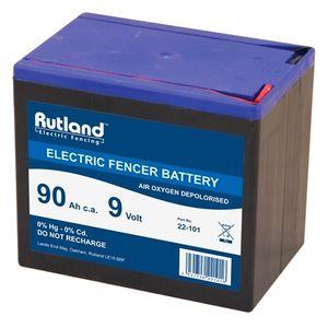 Rutland 9V 90Ah Air Oxygen Electric Fence Battery